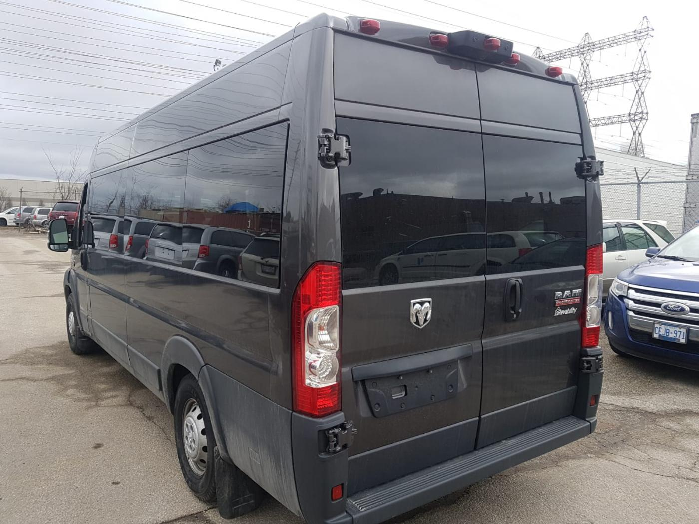 Exterior rear angle view of 2018 DODGE RAM PROMASTER with REV AIRRIDE CONVERSION