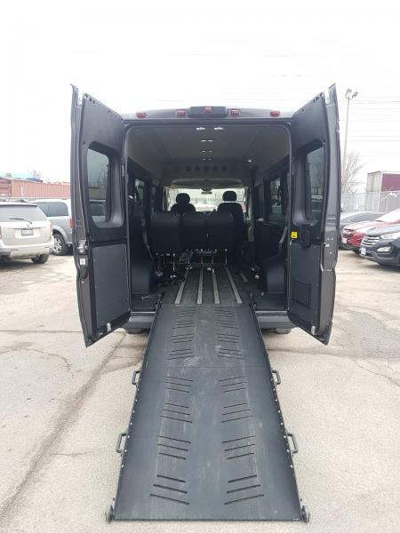 Interior Back Open View of 2018 DODGE RAM PROMASTER with REV AIRRIDE CONVERSION