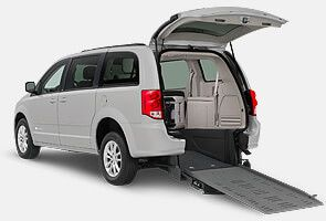 Chrysler van with manual rear entry BraunAbility conversion