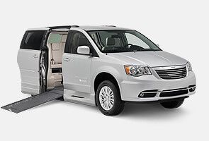Chrysler van with power infloor BraunAbility conversion