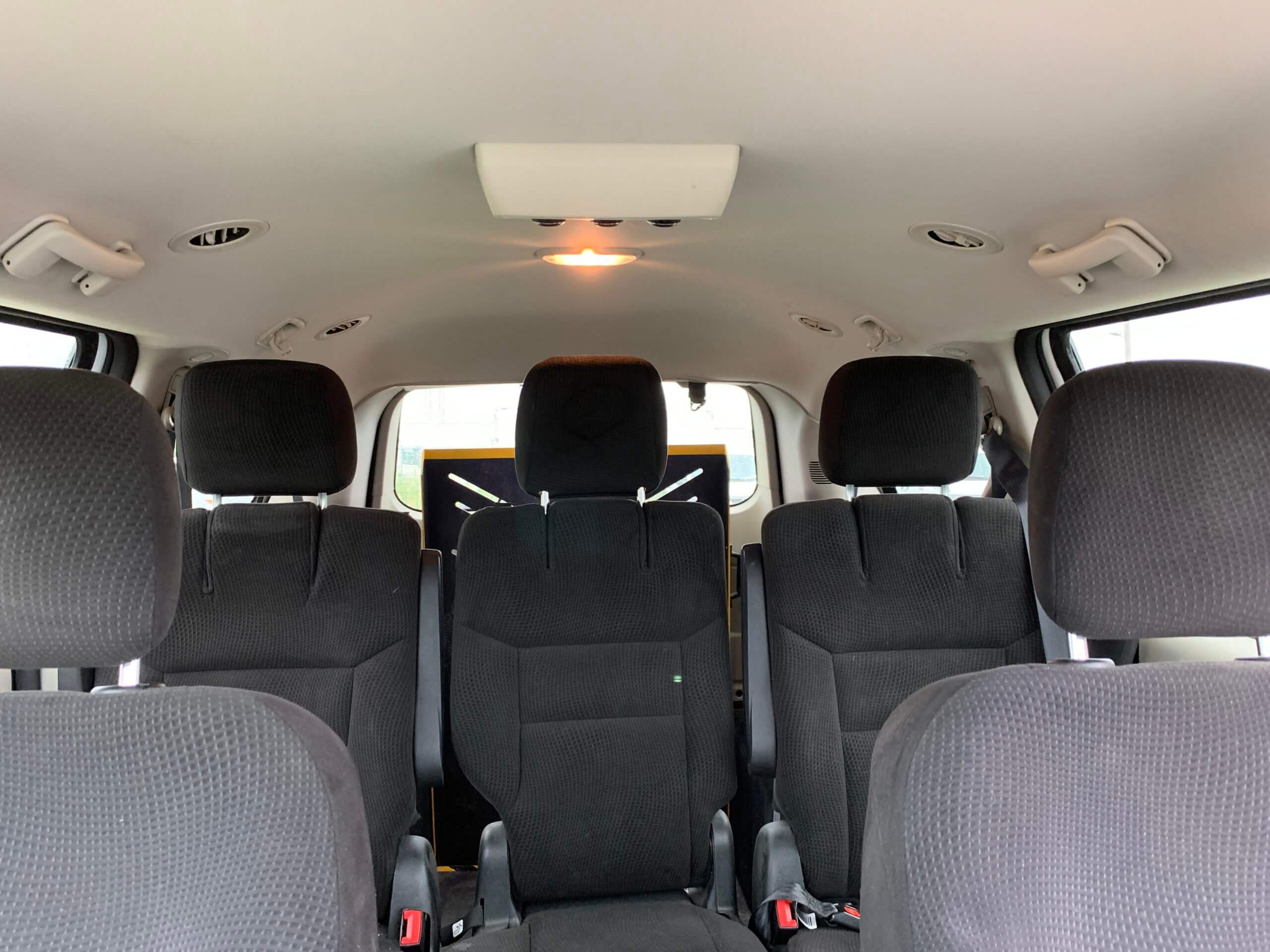 Interior backseat view of 2015 Dodge Grand Caravan SXT