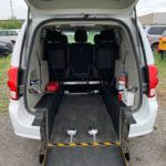 Interior rear wheelchair space of 2015 Dodge Grand Caravan SXT