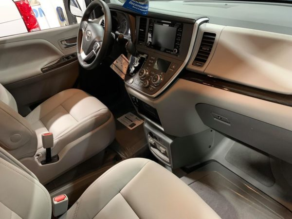 Passenger side angle front seat view of 2020 TOYOTA SIENNA XLE