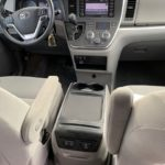 Interior driver and passenger seat view of 2018 TOYOTA SIENNA