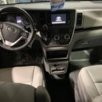 Interior driver and passenger seat view of 2020 TOYOTA SIENNA XLE