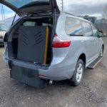 Rear opened trunk view of 2018 TOYOTA SIENNA