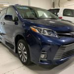 Exterior passenger side angle view of 2020 TOYOTA SIENNA XLE