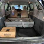 Interior rear space with seat down view of 2020 TOYOTA SIENNA XLE