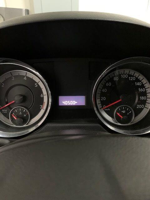 Interior dashboard view of 2013 Dodge Grand Caravan