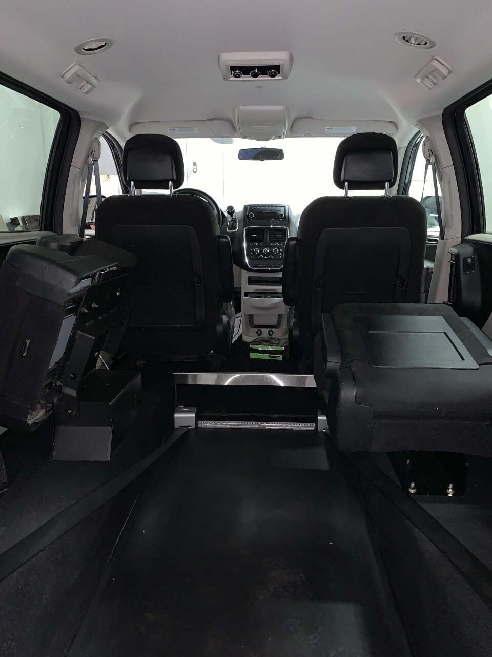 Interior wheelchair space view of 2013 Dodge Grand Caravan
