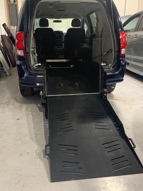 alternate exterior rear ramp opened view of 2013 Dodge Grand Caravan