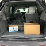 Rear space 1 seat down view of 2020 Toyota Sienna XLE NorthStar VMI