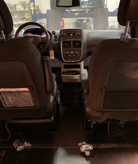 Interior behind the front seat view of 2019 Dodge Grand Caravan SE+
