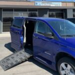 Exterior ramp out view of 2019 Dodge Grand Caravan SE+