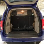Exterior view of back with doors lifted up of 2019 Dodge Grand Caravan SE+