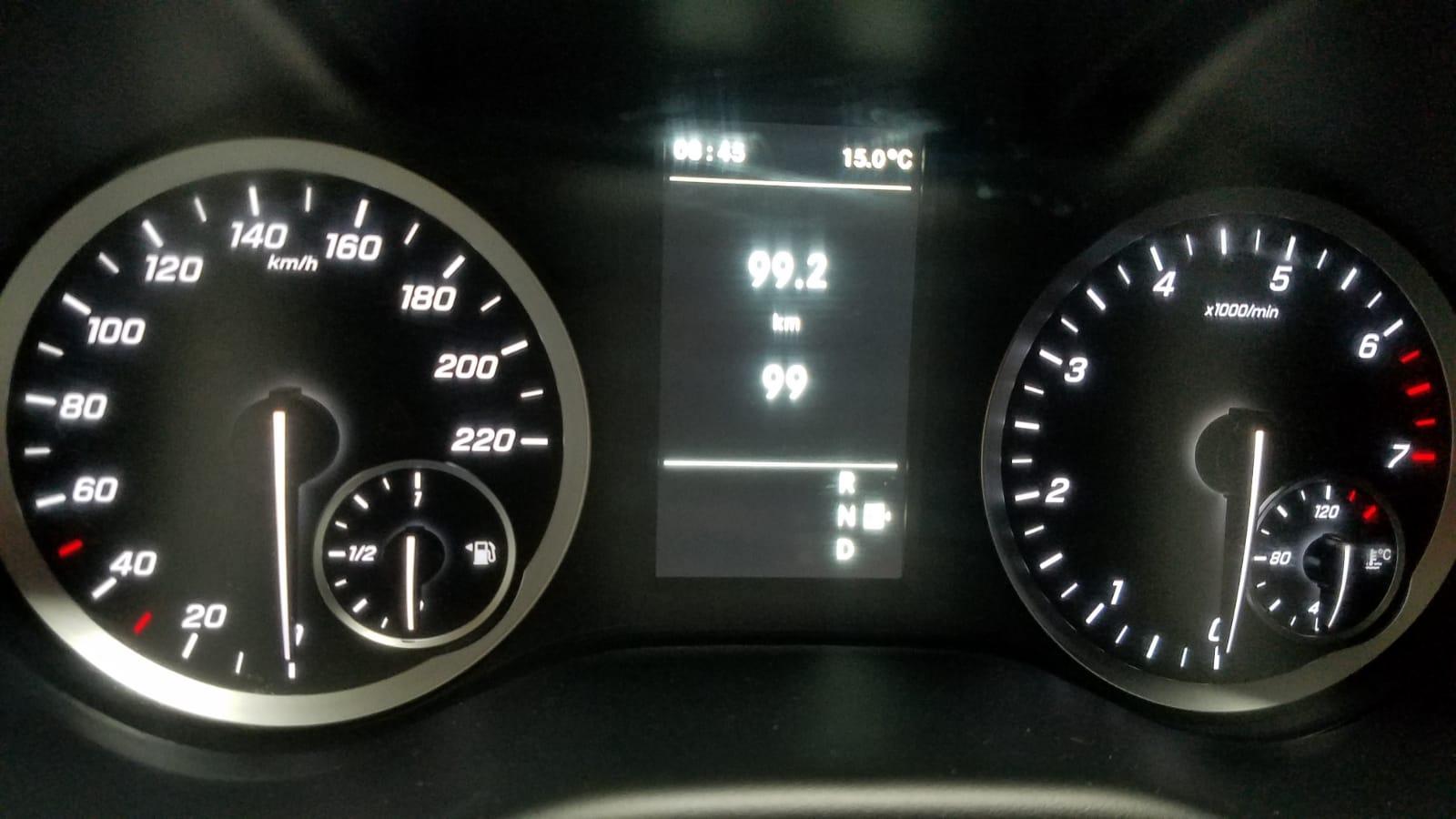 Dashboard of 2020 Mercedes Metris