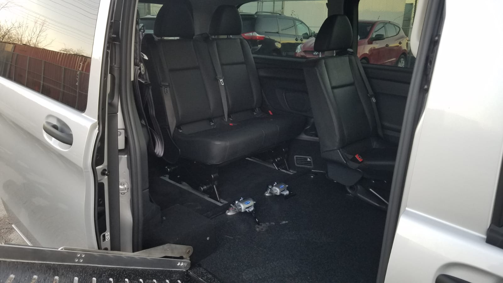 Interior ramp and seat view of 2020 Mercedes Metris