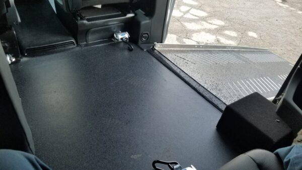 Interior exit ramp view of 2020 Mercedes Metris