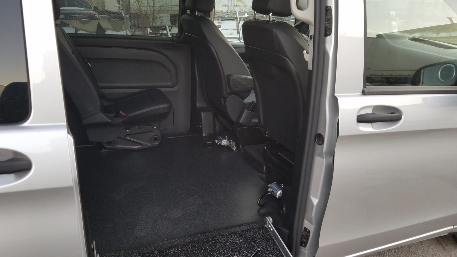 Interior view of seats from ramp angle of 2020 Mercedes Metris