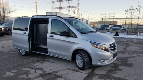 Exterior front right side angle of 2020 Mercedes Metris