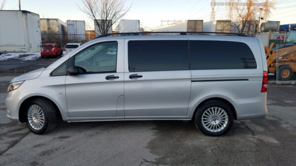 Exterior left side view with doors closed of 2020 Mercedes Metris