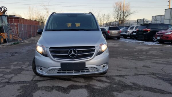 Exterior front view of 2020 Mercedes Metris